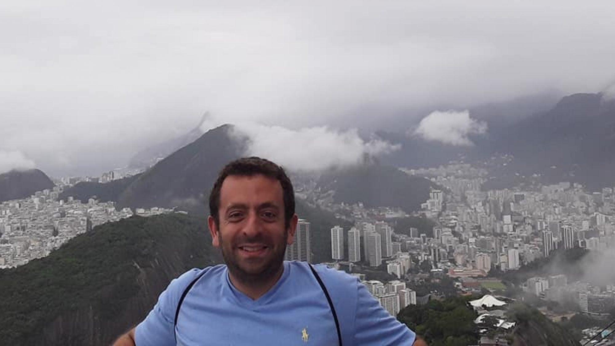 Ben Weinberg on a mountain top.
